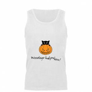 Men's t-shirt Inscription: Happy Halloween - PrintSalon