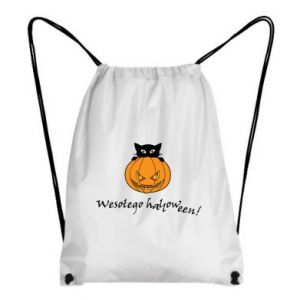 Backpack-bag Inscription: Happy Halloween - PrintSalon