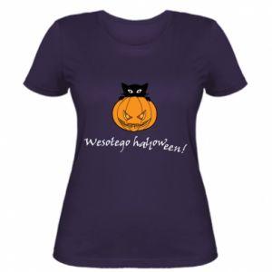 Damska koszulka Napis: Wesołego Halloween