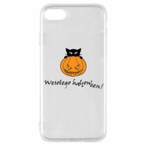 Etui na iPhone 7 Napis: Wesołego Halloween