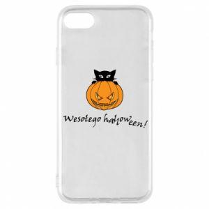Phone case for iPhone 8 Inscription: Happy Halloween - PrintSalon