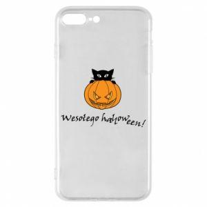 Phone case for iPhone 8 Plus Inscription: Happy Halloween - PrintSalon