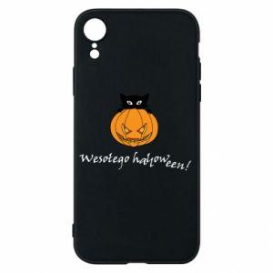 Phone case for iPhone XR Inscription: Happy Halloween - PrintSalon