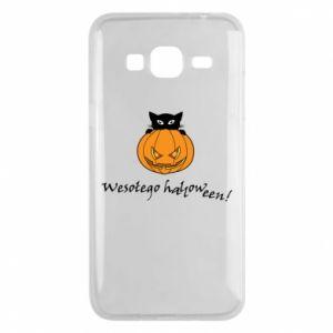 Etui na Samsung J3 2016 Napis: Wesołego Halloween