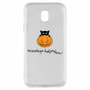 Phone case for Samsung J3 2017 Inscription: Happy Halloween - PrintSalon