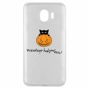 Phone case for Samsung J4 Inscription: Happy Halloween - PrintSalon