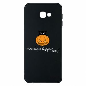 Phone case for Samsung J4 Plus 2018 Inscription: Happy Halloween - PrintSalon