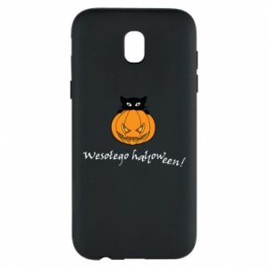 Phone case for Samsung J5 2017 Inscription: Happy Halloween - PrintSalon