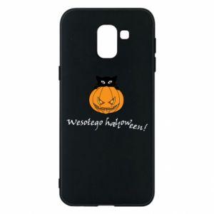 Phone case for Samsung J6 Inscription: Happy Halloween - PrintSalon