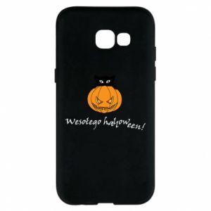 Phone case for Samsung A5 2017 Inscription: Happy Halloween - PrintSalon