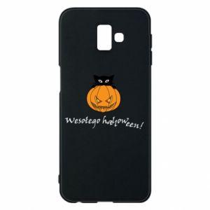 Phone case for Samsung J6 Plus 2018 Inscription: Happy Halloween - PrintSalon