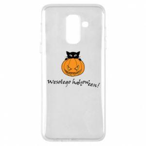 Phone case for Samsung A6+ 2018 Inscription: Happy Halloween - PrintSalon