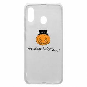 Phone case for Samsung A20 Inscription: Happy Halloween - PrintSalon