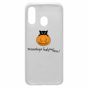Phone case for Samsung A40 Inscription: Happy Halloween - PrintSalon