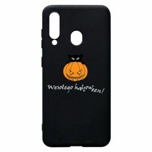 Phone case for Samsung A60 Inscription: Happy Halloween - PrintSalon