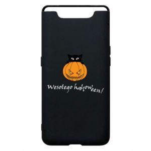 Phone case for Samsung A80 Inscription: Happy Halloween - PrintSalon