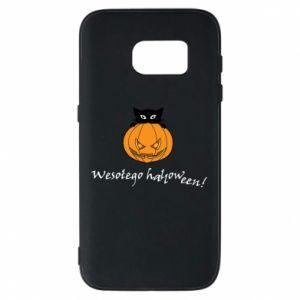 Phone case for Samsung S7 Inscription: Happy Halloween - PrintSalon