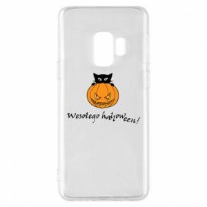 Phone case for Samsung S9 Inscription: Happy Halloween - PrintSalon