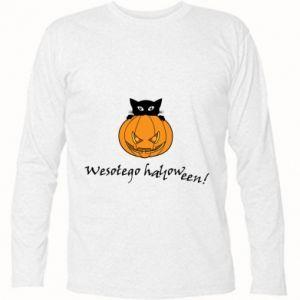 Koszulka z długim rękawem Napis: Wesołego Halloween