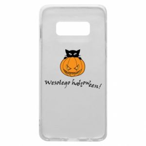 Phone case for Samsung S10e Inscription: Happy Halloween - PrintSalon