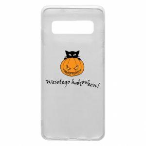 Phone case for Samsung S10 Inscription: Happy Halloween - PrintSalon