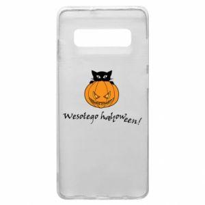 Phone case for Samsung S10+ Inscription: Happy Halloween - PrintSalon