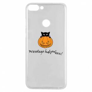 Phone case for Huawei P Smart Inscription: Happy Halloween - PrintSalon