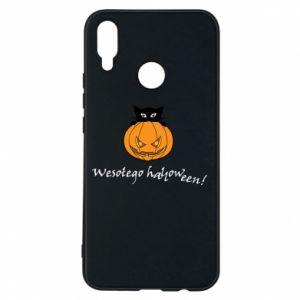 Phone case for Huawei P Smart Plus Inscription: Happy Halloween - PrintSalon