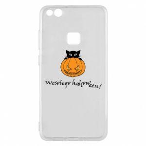 Phone case for Huawei P10 Lite Inscription: Happy Halloween - PrintSalon