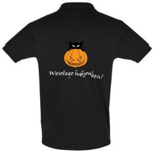Koszulka Polo Napis: Wesołego Halloween