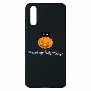 Phone case for Huawei P20 Inscription: Happy Halloween - PrintSalon