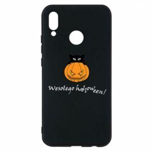 Phone case for Huawei P20 Lite Inscription: Happy Halloween - PrintSalon