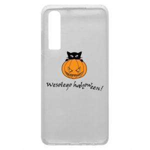 Etui na Huawei P30 Napis: Wesołego Halloween