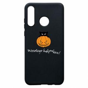 Etui na Huawei P30 Lite Napis: Wesołego Halloween