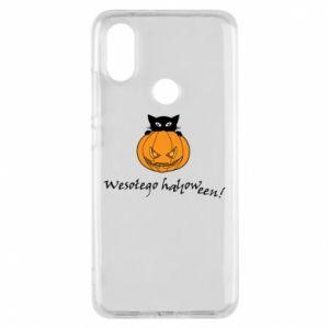 Phone case for Xiaomi Mi A2 Inscription: Happy Halloween - PrintSalon