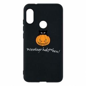 Phone case for Mi A2 Lite Inscription: Happy Halloween - PrintSalon