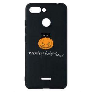 Phone case for Xiaomi Redmi 6 Inscription: Happy Halloween - PrintSalon