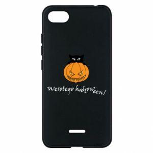 Phone case for Xiaomi Redmi 6A Inscription: Happy Halloween - PrintSalon