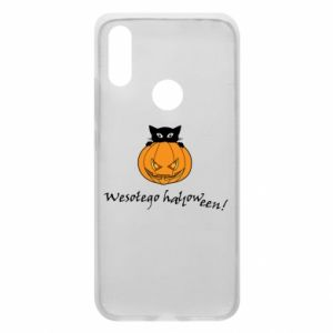 Phone case for Xiaomi Redmi 7 Inscription: Happy Halloween - PrintSalon
