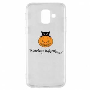Phone case for Samsung A6 2018 Inscription: Happy Halloween - PrintSalon