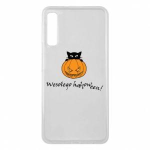 Phone case for Samsung A7 2018 Inscription: Happy Halloween - PrintSalon