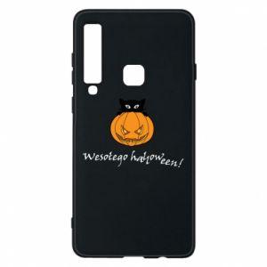 Phone case for Samsung A9 2018 Inscription: Happy Halloween - PrintSalon