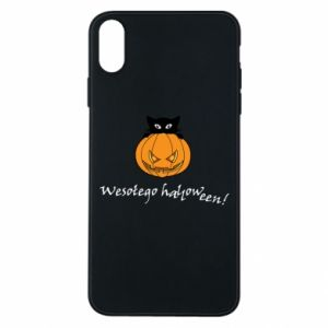 Etui na iPhone Xs Max Napis: Wesołego Halloween