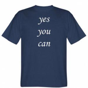 Koszulka Napis: Yes you can