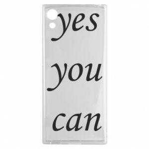 Etui na Sony Xperia XA1 Napis: Yes you can