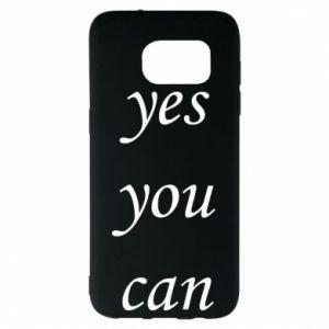 Etui na Samsung S7 EDGE Napis: Yes you can