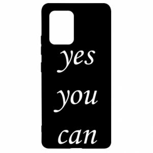 Etui na Samsung S10 Lite Napis: Yes you can