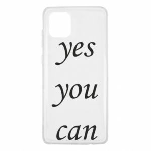 Etui na Samsung Note 10 Lite Napis: Yes you can