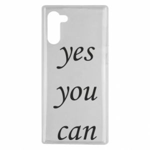 Etui na Samsung Note 10 Napis: Yes you can