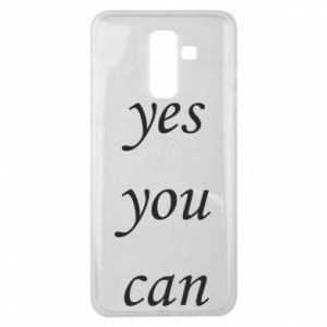Etui na Samsung J8 2018 Napis: Yes you can